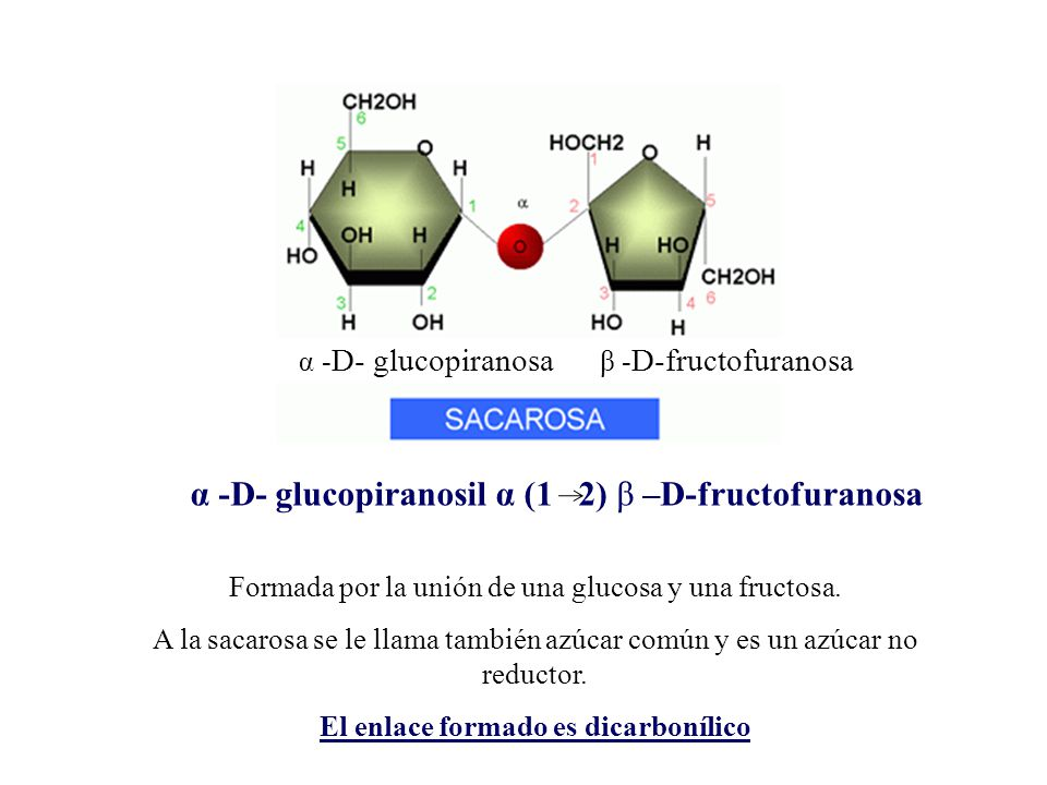 α -D- glucopiranosil α (1 2) β –D-fructofuranosa