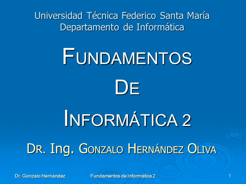 FUNDAMENTOS DE INFORMÁTICA 2