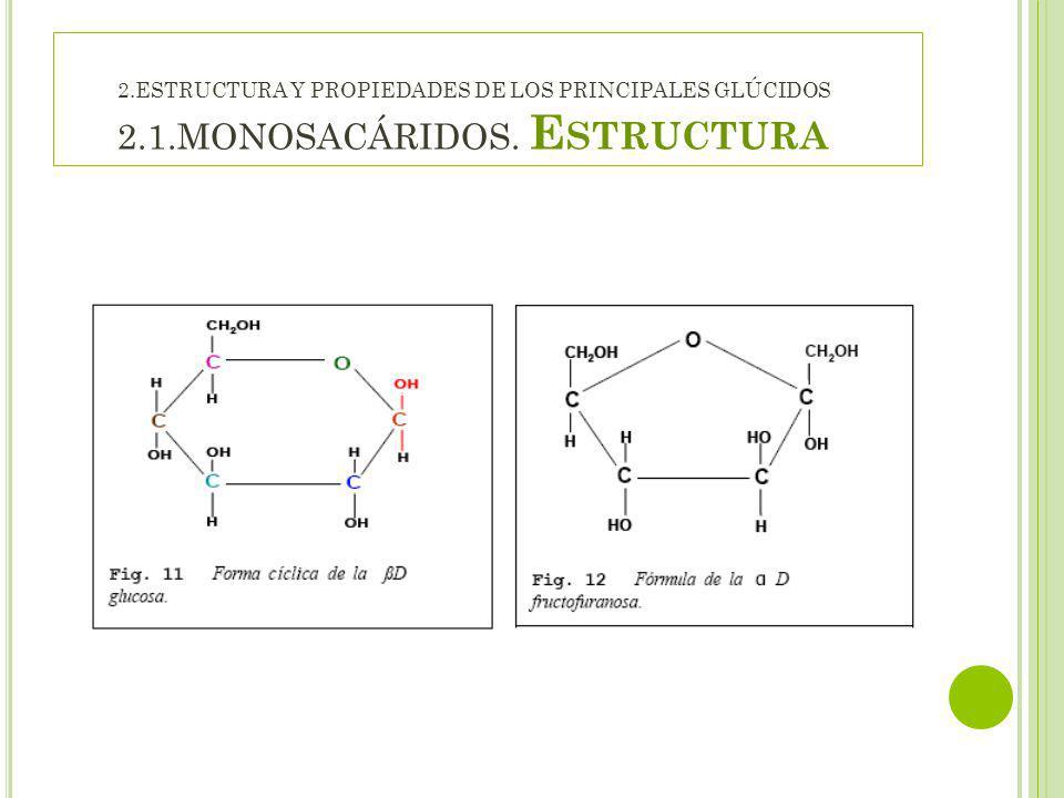 2. ESTRUCTURA Y PROPIEDADES DE LOS PRINCIPALES GLÚCIDOS 2. 1