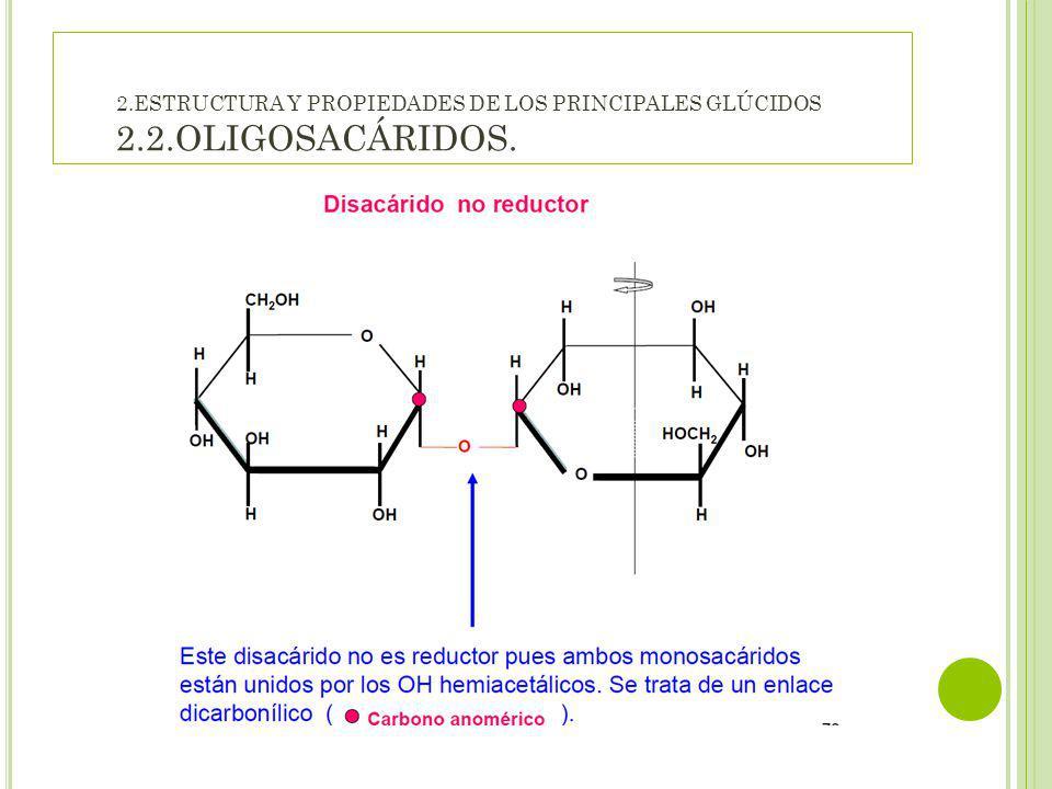 2. ESTRUCTURA Y PROPIEDADES DE LOS PRINCIPALES GLÚCIDOS 2. 2