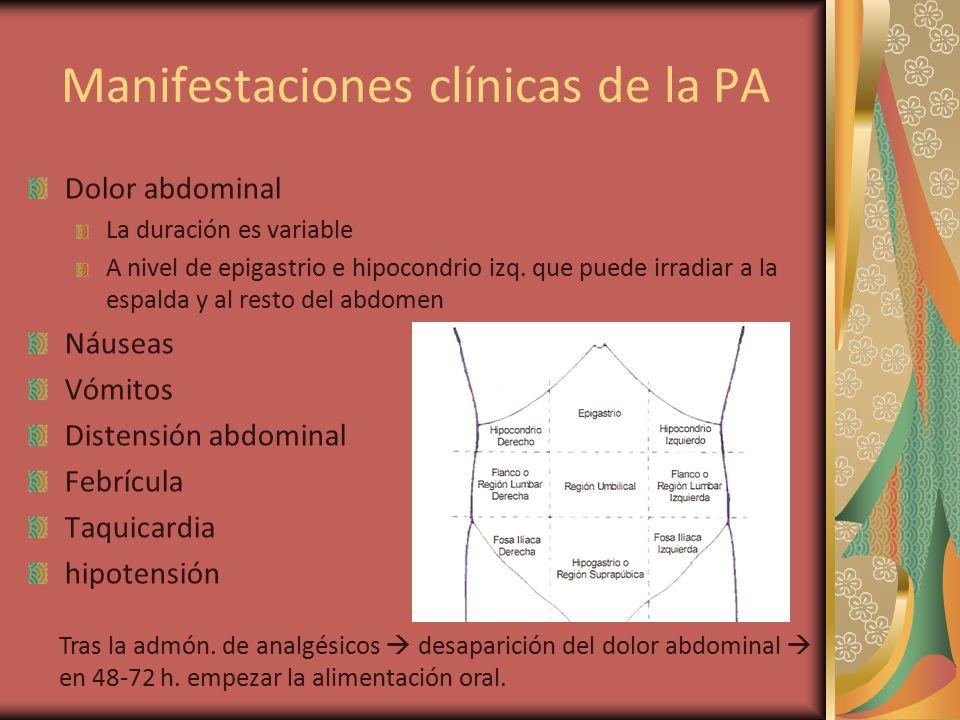 Manifestaciones clínicas de la PA