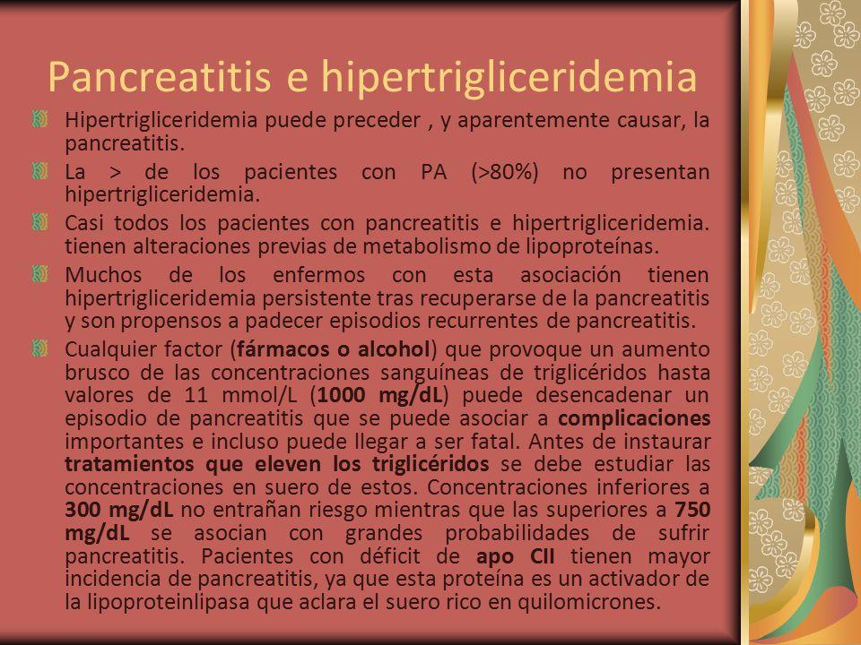 Pancreatitis e hipertrigliceridemia