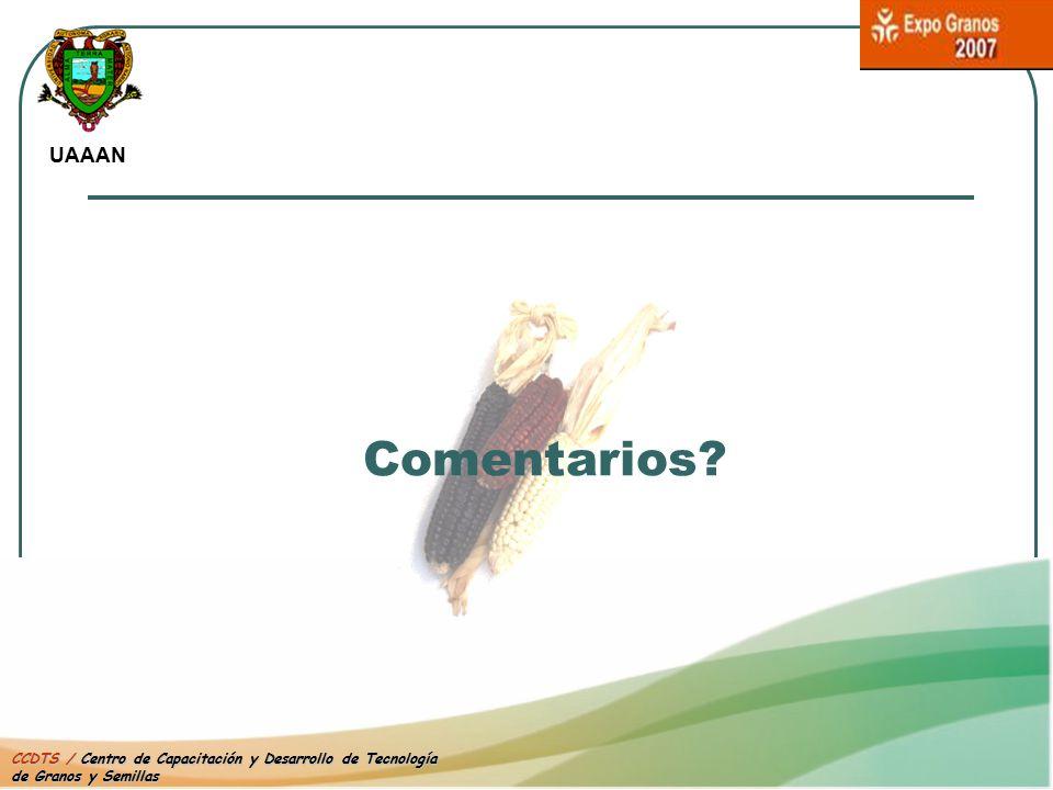 UAAAN Comentarios CCDTS / Centro de Capacitación y Desarrollo de Tecnología de Granos y Semillas
