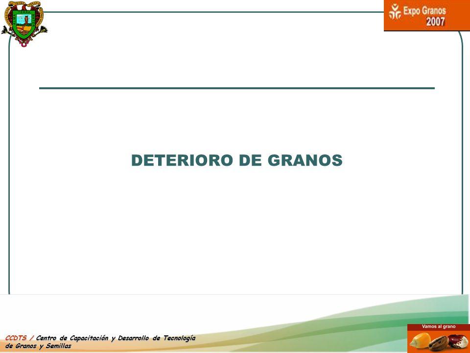 DETERIORO DE GRANOS CCDTS / Centro de Capacitación y Desarrollo de Tecnología de Granos y Semillas