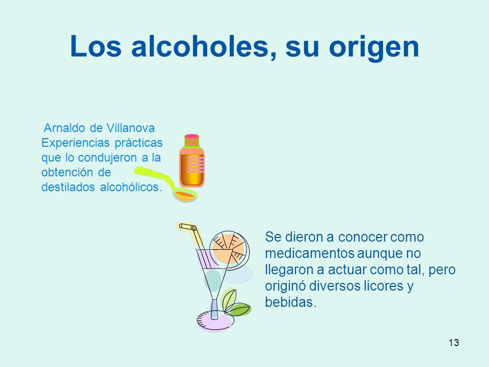 Los alcoholes, su origen