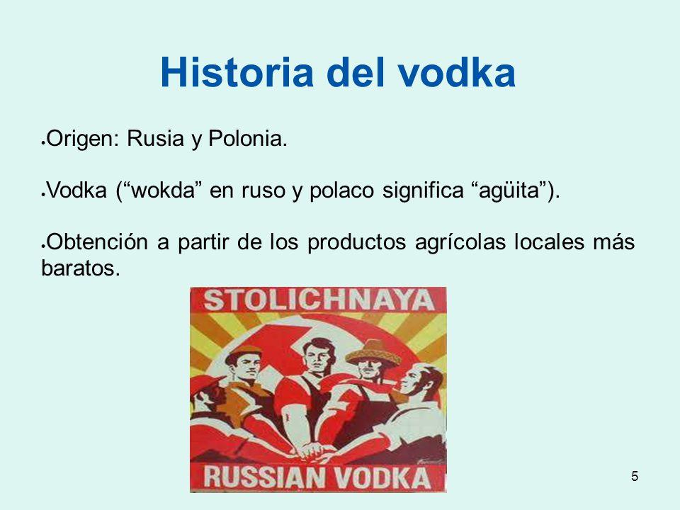 Historia del vodka Origen: Rusia y Polonia.