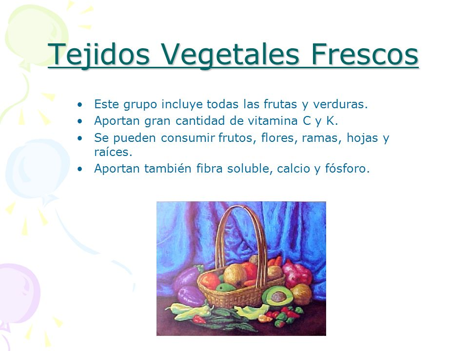 Tejidos Vegetales Frescos
