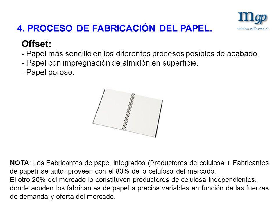 4. PROCESO DE FABRICACIÓN DEL PAPEL.