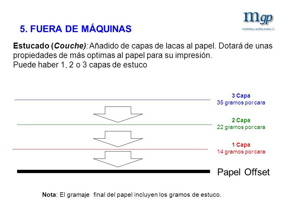 5. FUERA DE MÁQUINAS Papel Offset