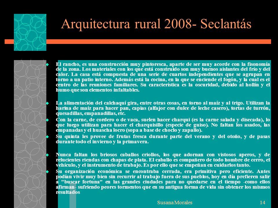 Arquitectura rural 2008- Seclantás
