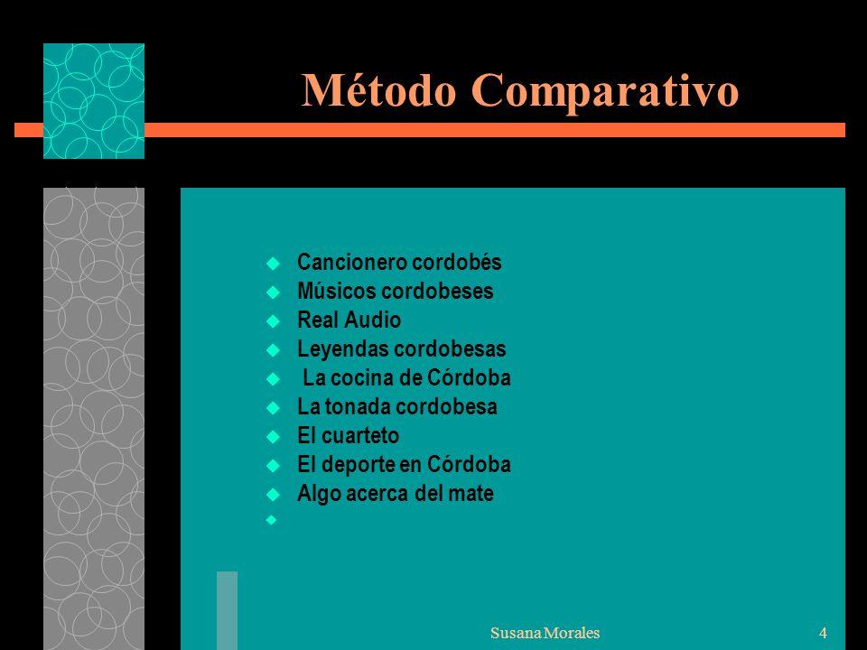 Método Comparativo Cancionero cordobés Músicos cordobeses Real Audio