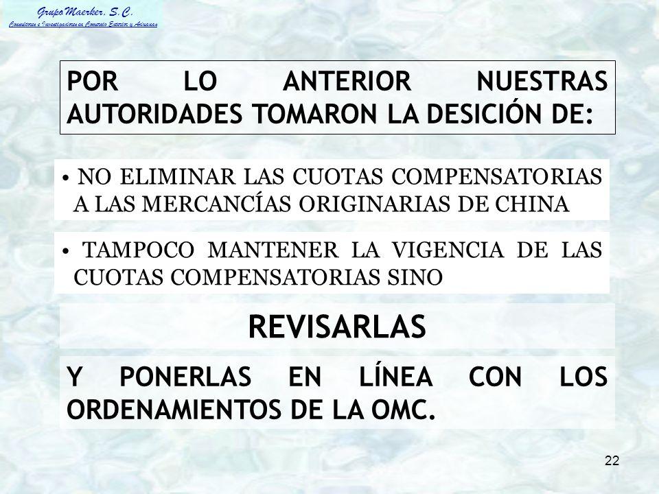 POR LO ANTERIOR NUESTRAS AUTORIDADES TOMARON LA DESICIÓN DE: