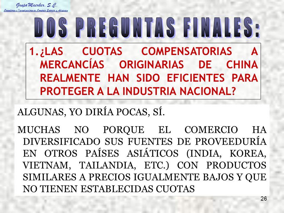 DOS PREGUNTAS FINALES: