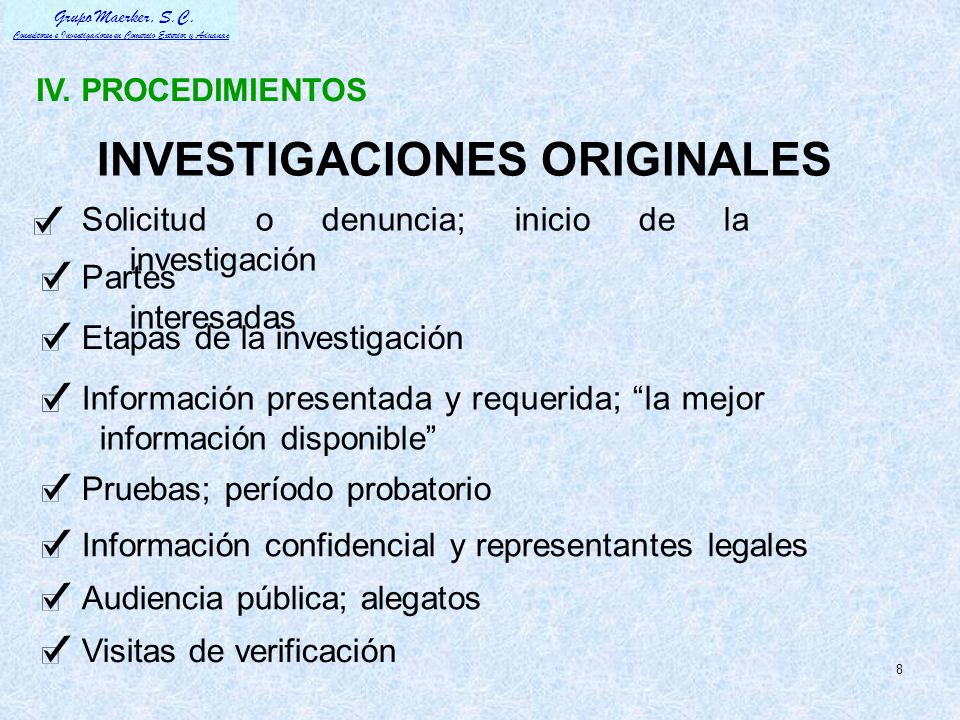 INVESTIGACIONES ORIGINALES