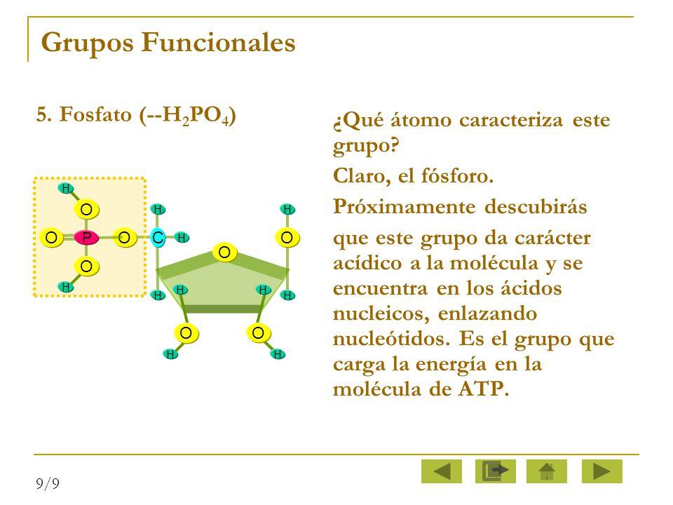 Grupos Funcionales 5. Fosfato (--H2PO4)