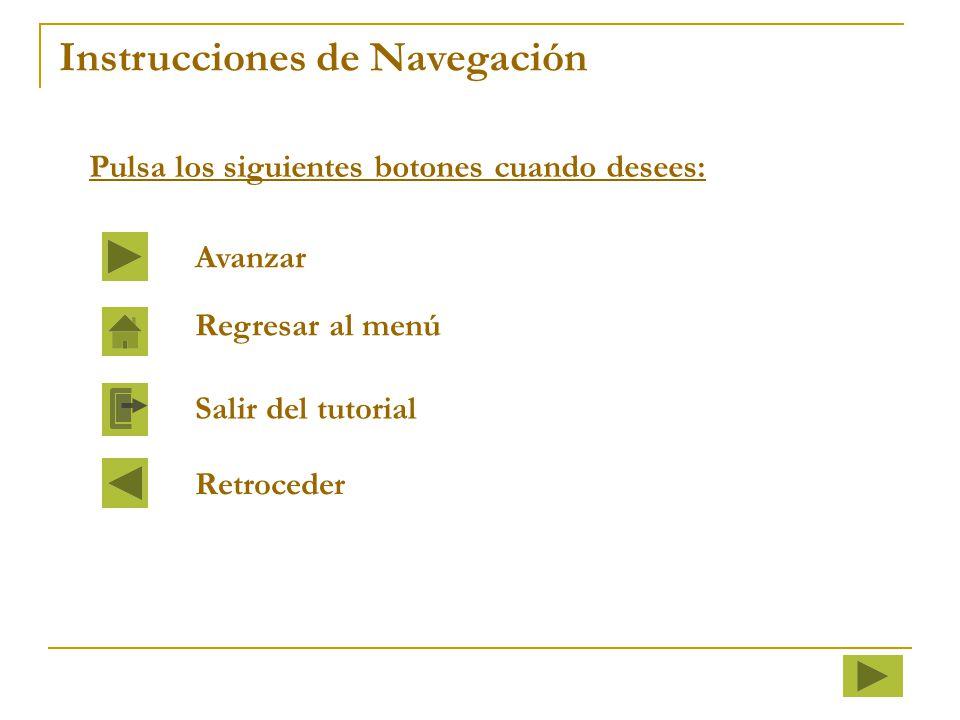 Instrucciones de Navegación