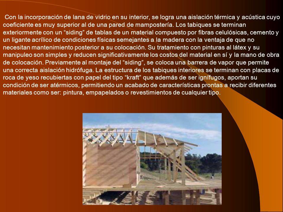 Con la incorporación de lana de vidrio en su interior, se logra una aislación térmica y acústica cuyo coeficiente es muy superior al de una pared de mampostería.