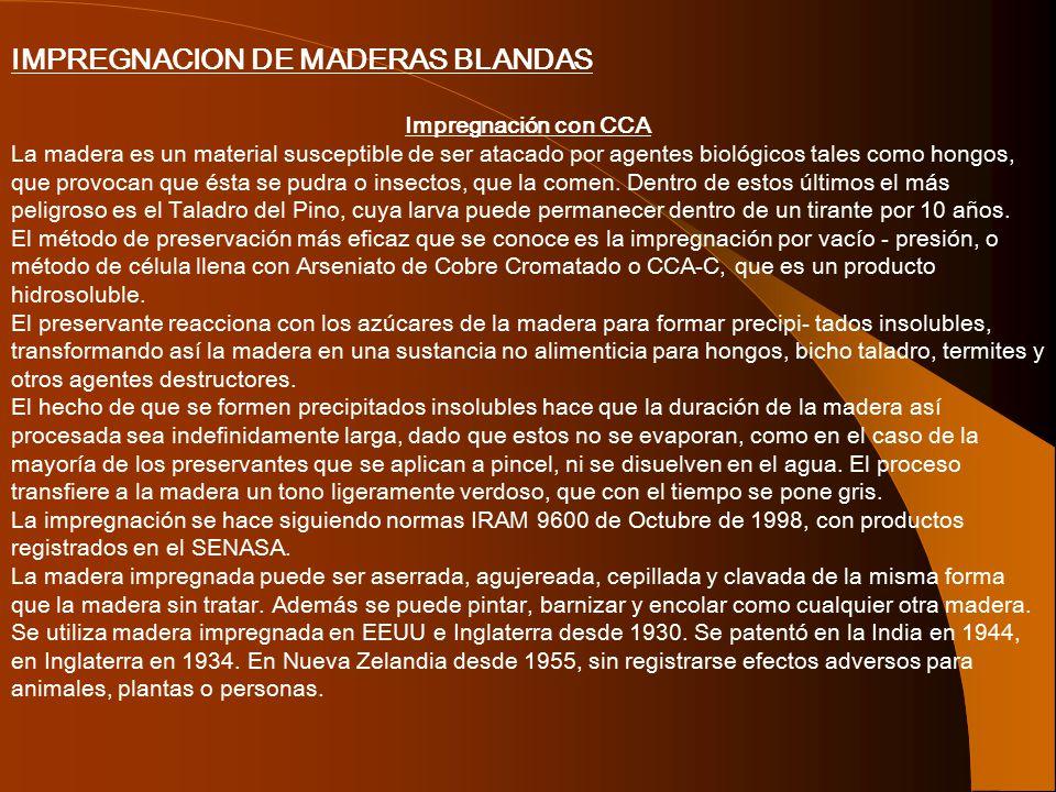 IMPREGNACION DE MADERAS BLANDAS