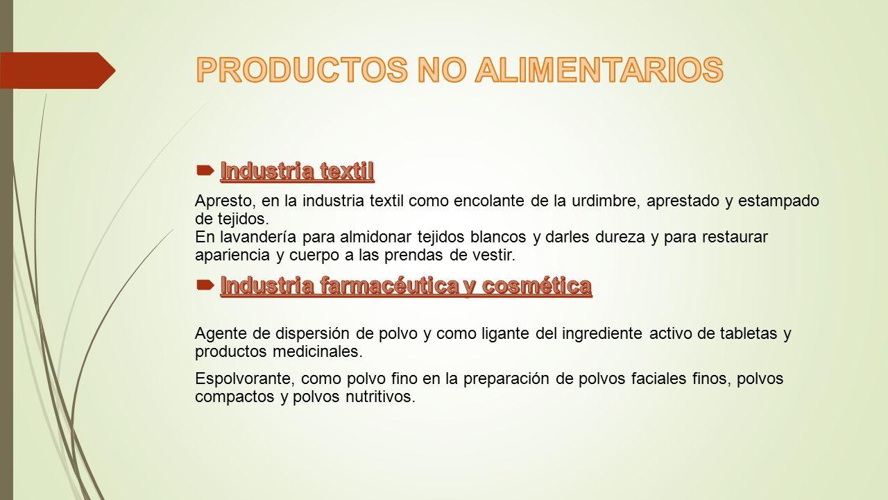 PRODUCTOS NO ALIMENTARIOS