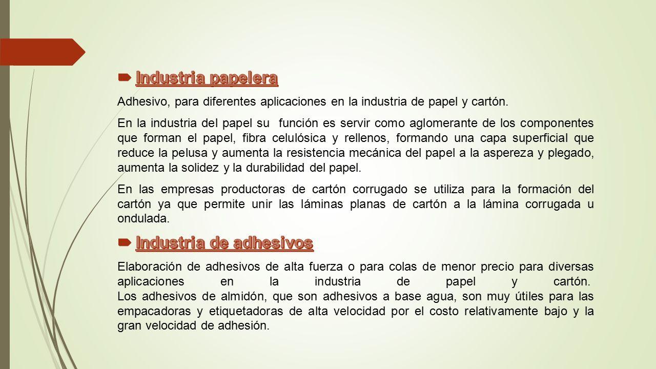 Industria de adhesivos