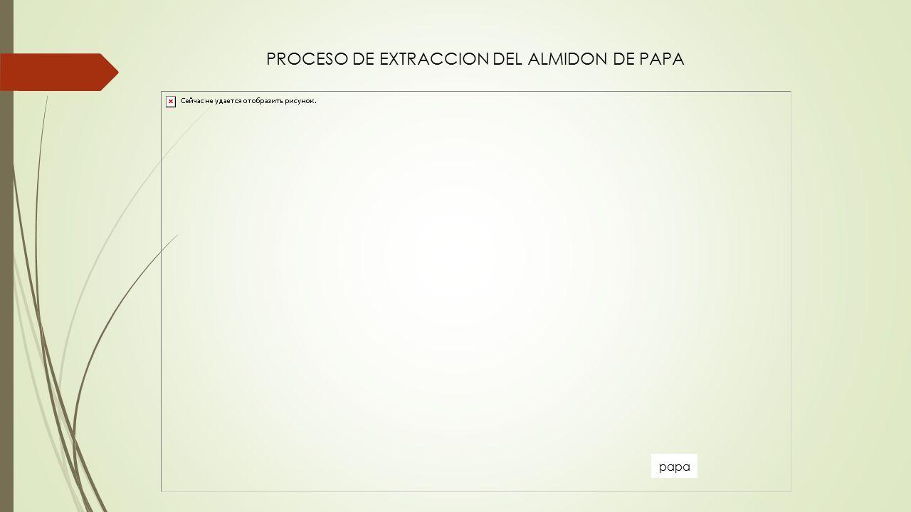 PROCESO DE EXTRACCION DEL ALMIDON DE PAPA