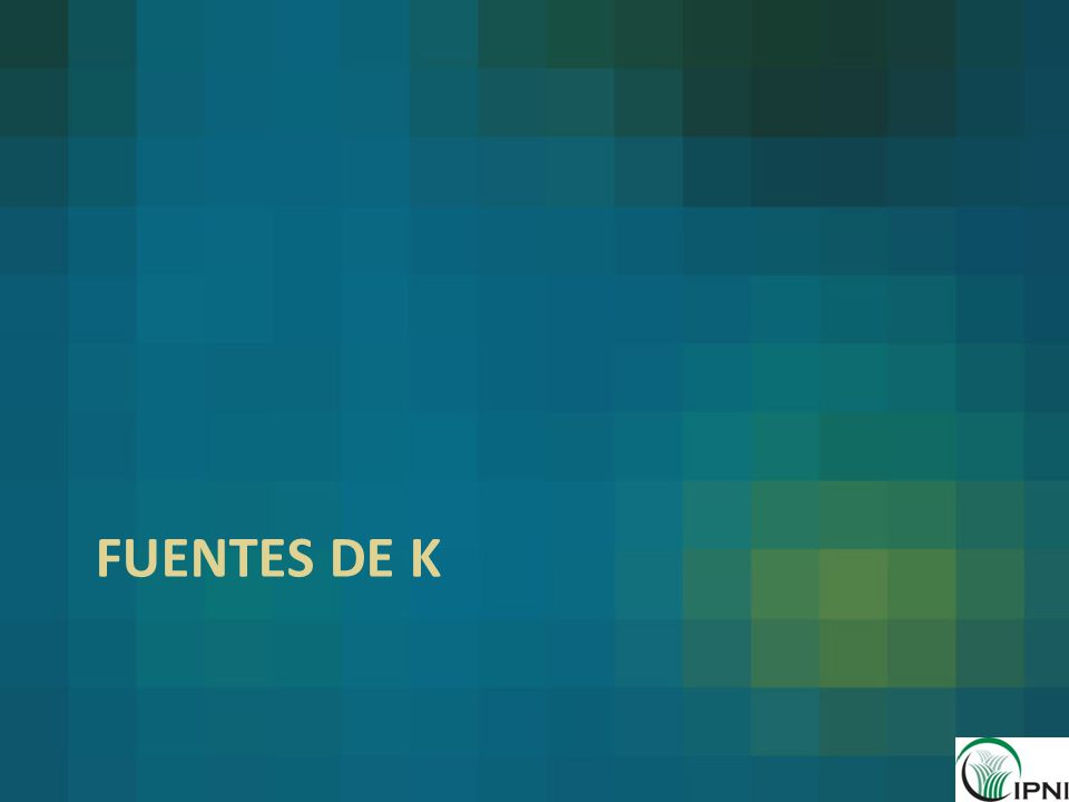 Fuentes de K