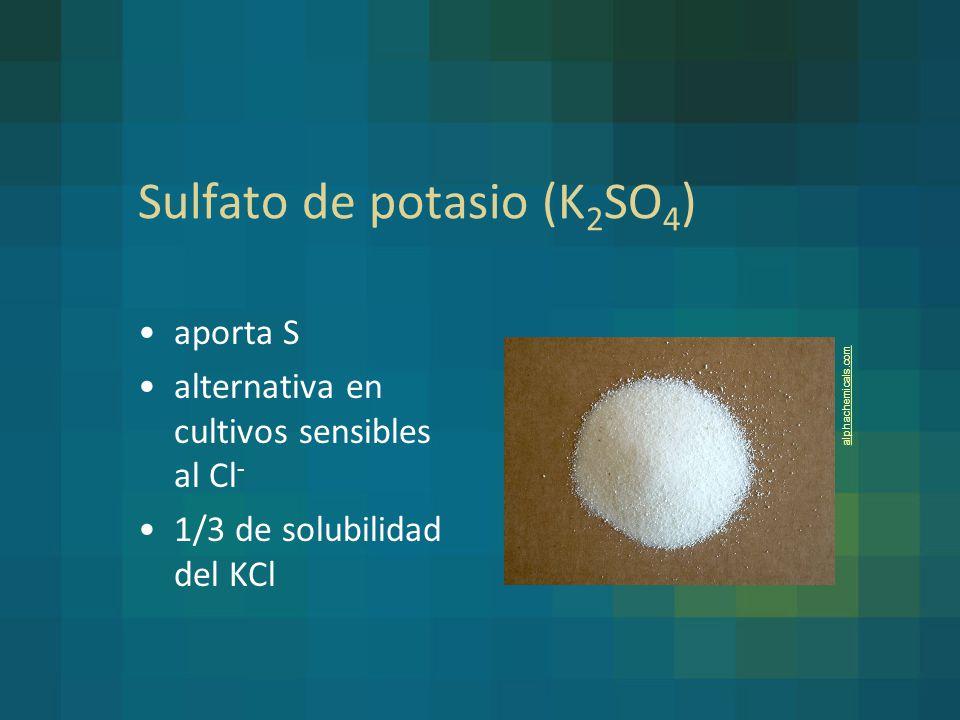 Sulfato de potasio (K2SO4)