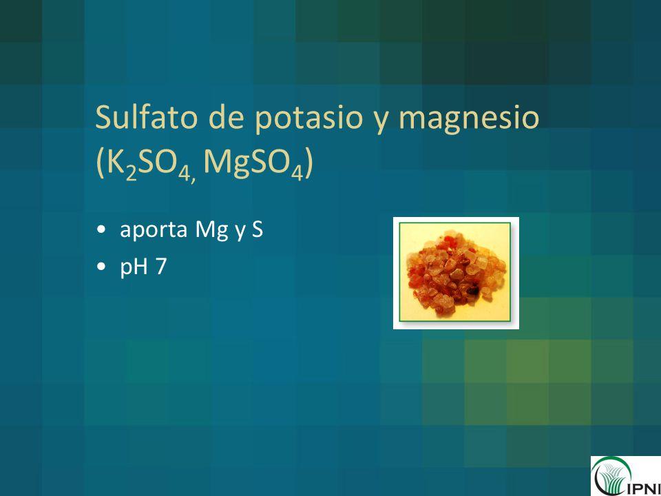 Sulfato de potasio y magnesio (K2SO4, MgSO4)