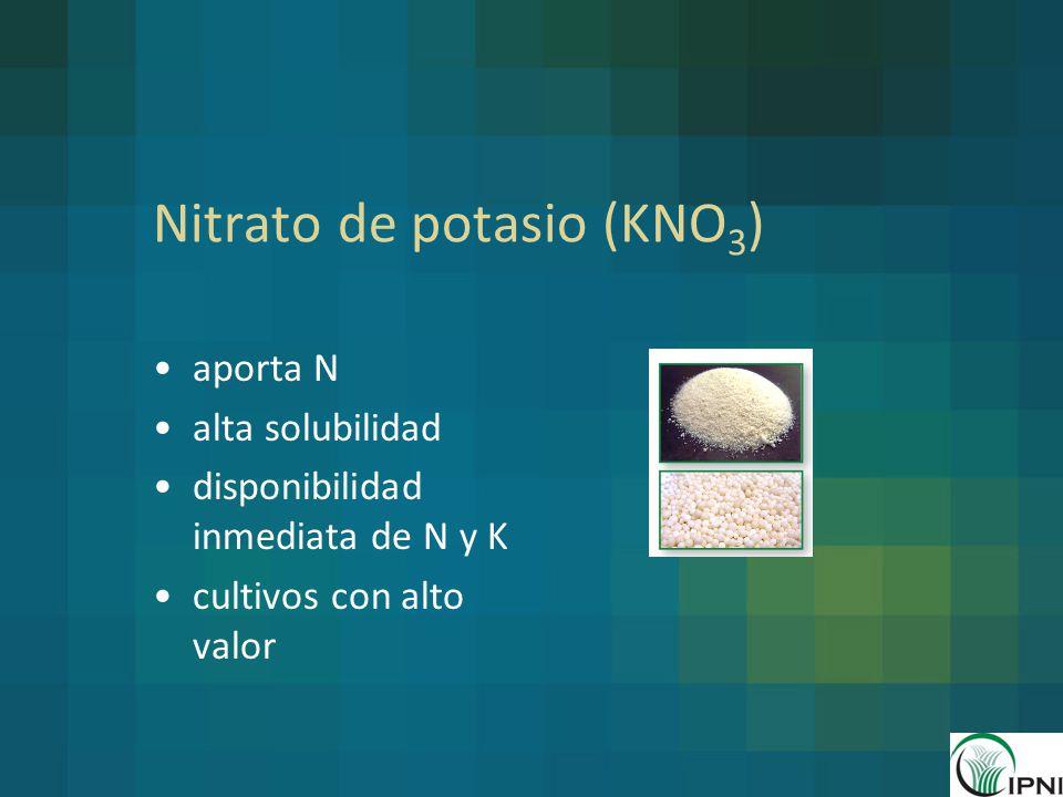 Nitrato de potasio (KNO3)