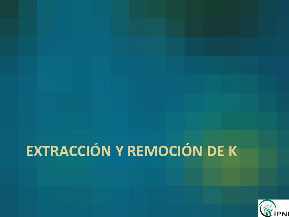 extracción y remoción de k