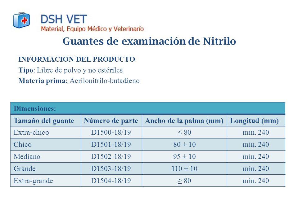 Guantes de examinación de Nitrilo