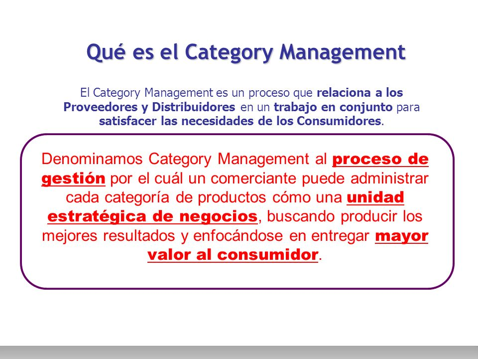 Qué es el Category Management