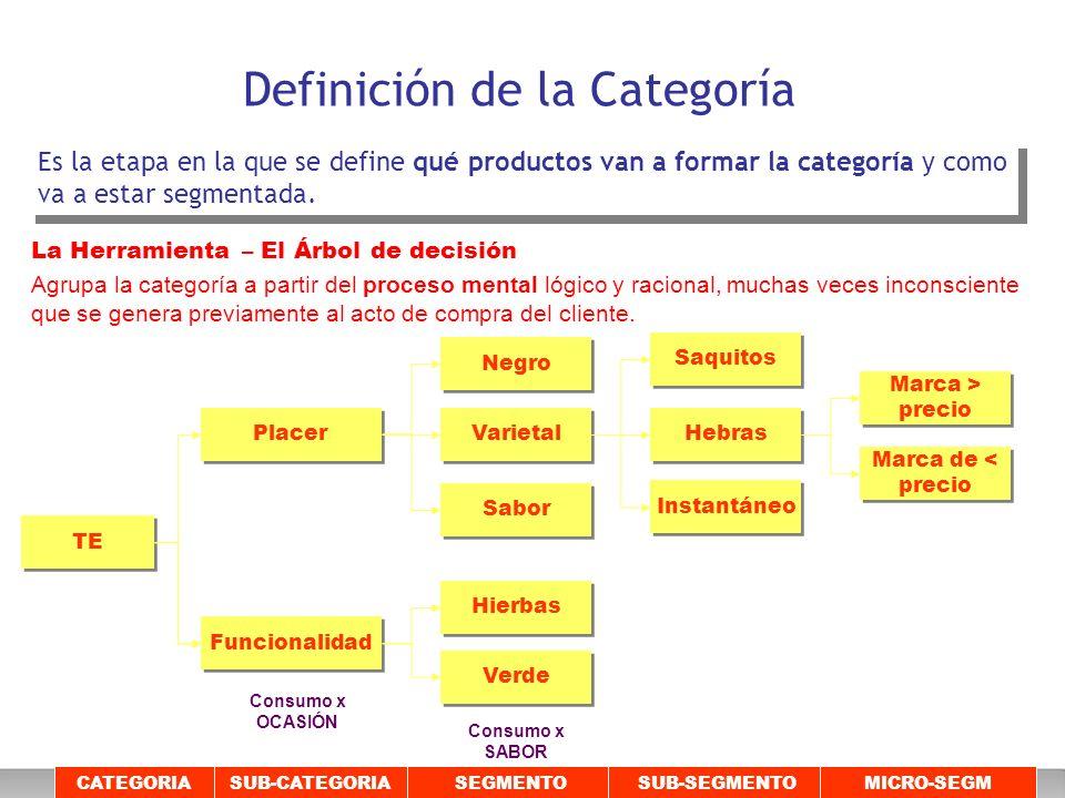 Definición de la Categoría