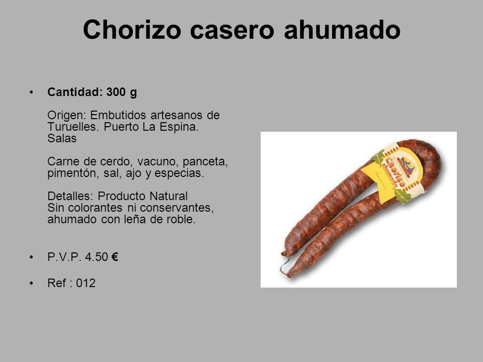 Chorizo casero ahumado