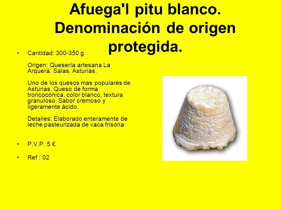 Afuega l pitu blanco. Denominación de origen protegida.