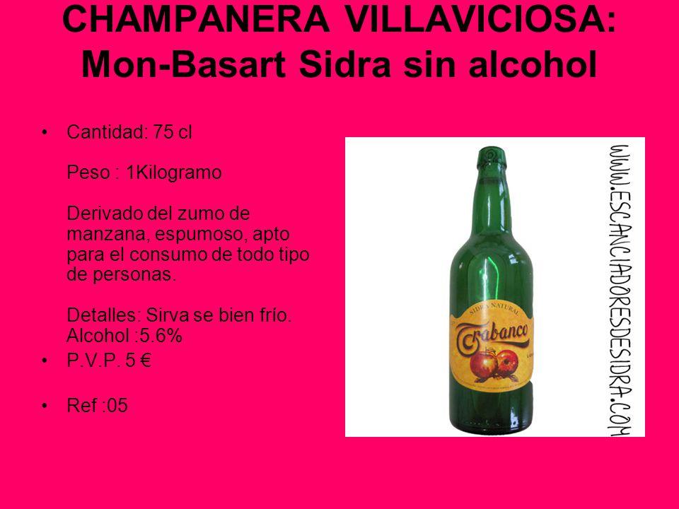 CHAMPANERA VILLAVICIOSA: Mon-Basart Sidra sin alcohol