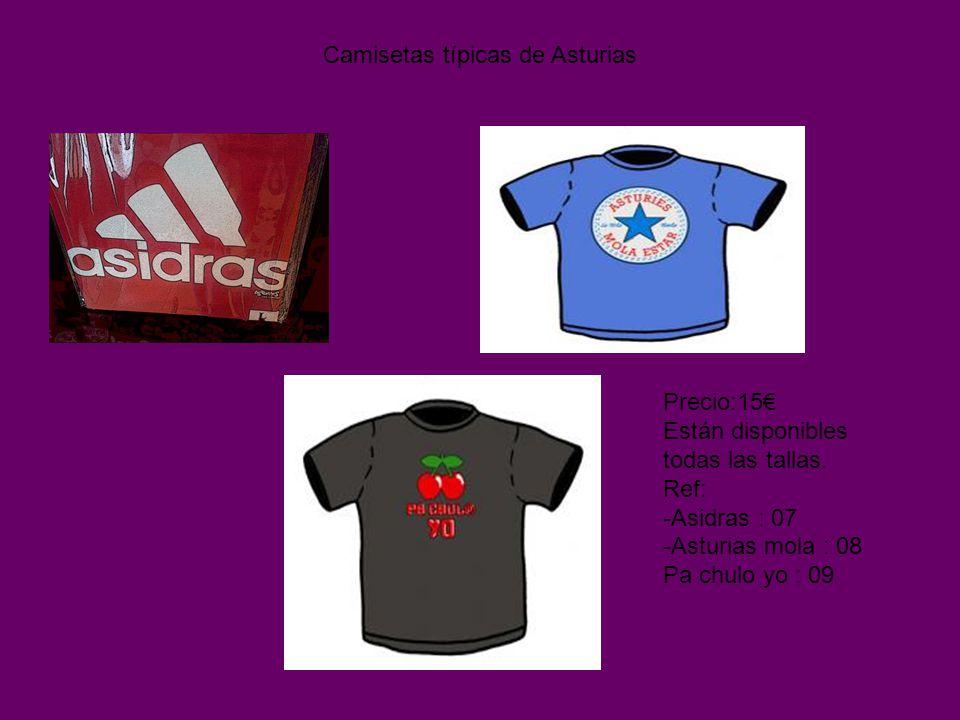 Camisetas típicas de Asturias