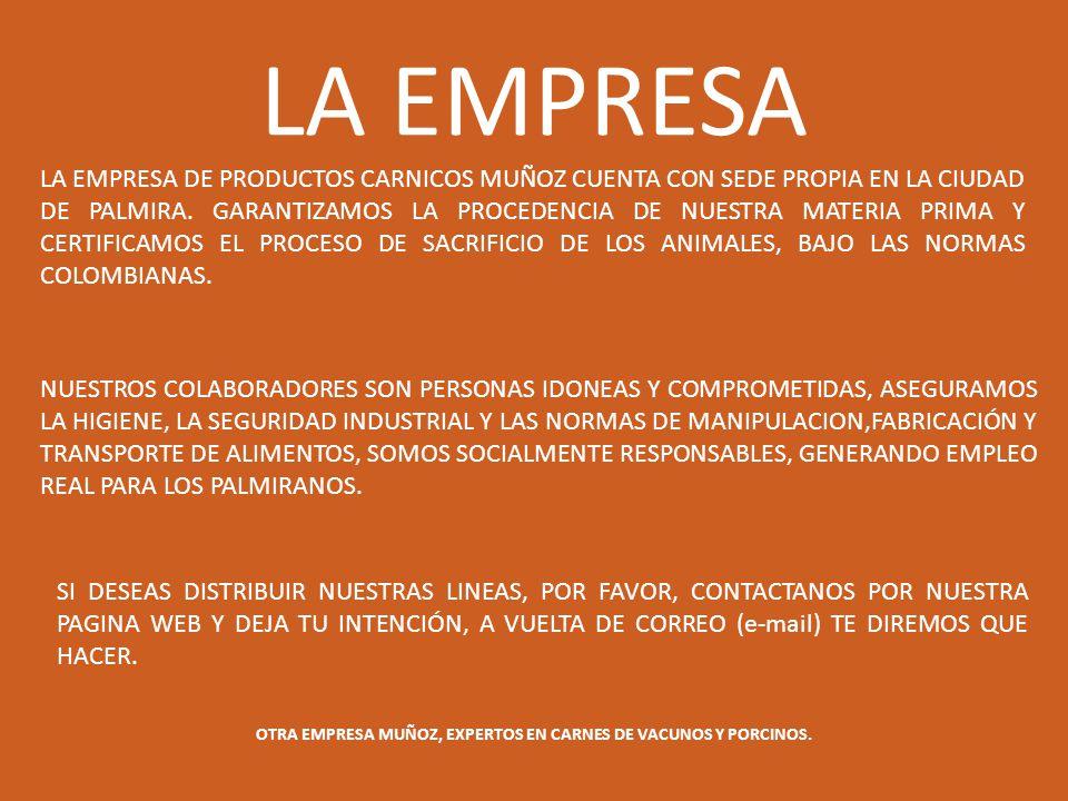 OTRA EMPRESA MUÑOZ, EXPERTOS EN CARNES DE VACUNOS Y PORCINOS.