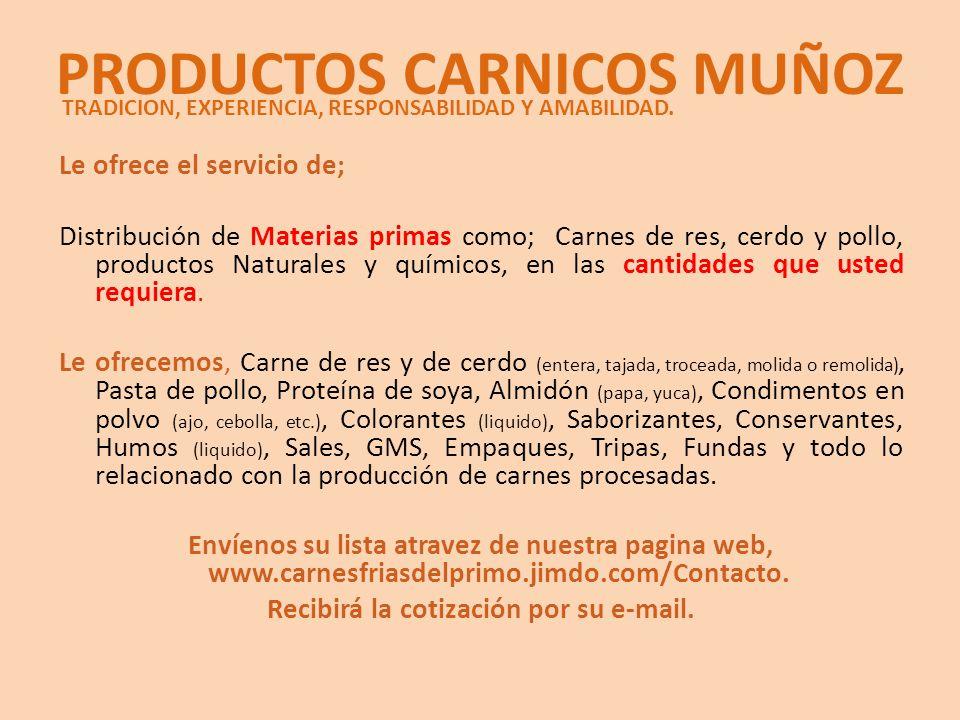 PRODUCTOS CARNICOS MUÑOZ