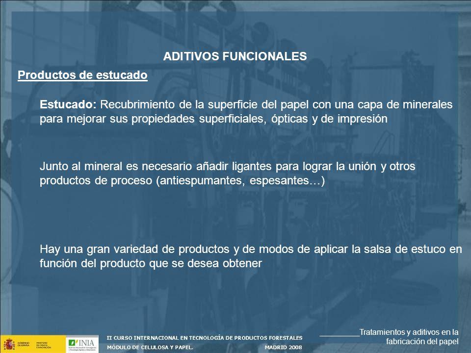 ADITIVOS FUNCIONALES Productos de estucado