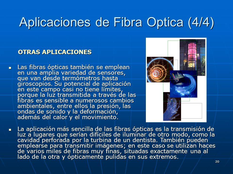 Aplicaciones de Fibra Optica (4/4)