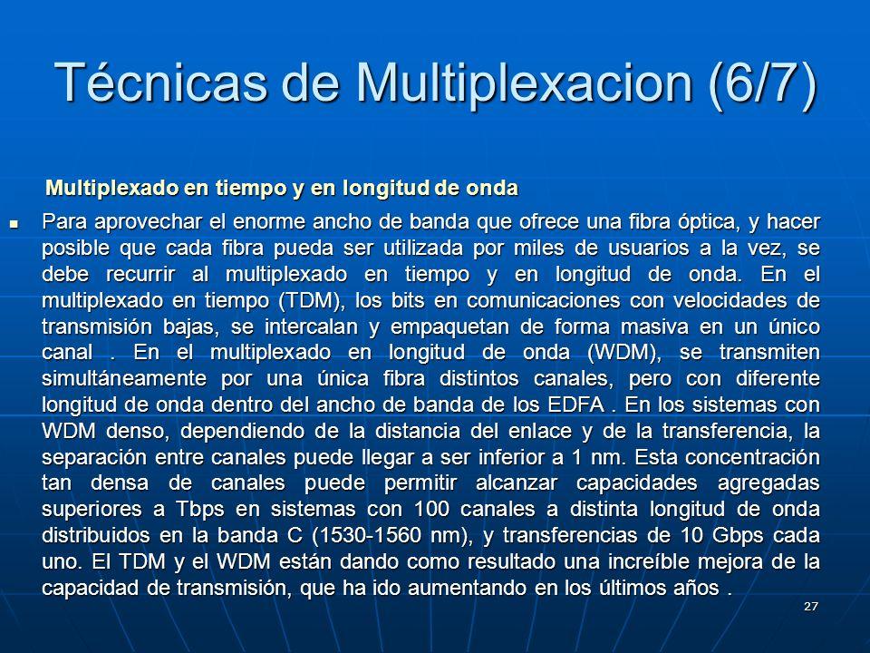 Técnicas de Multiplexacion (6/7)