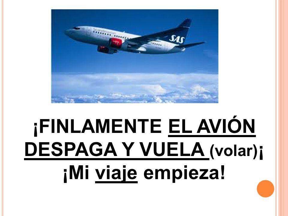 ¡FINLAMENTE EL AVIÓN DESPAGA Y VUELA (volar)¡
