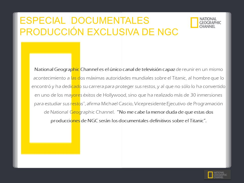ESPECIAL DOCUMENTALES PRODUCCIÓN EXCLUSIVA DE NGC