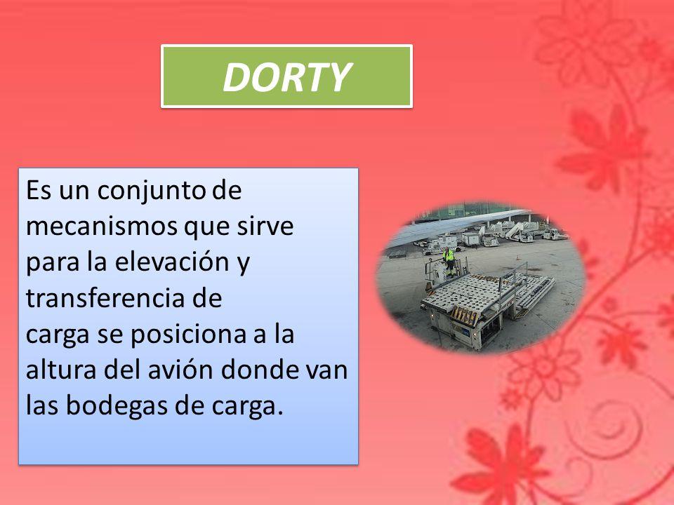 DORTY Es un conjunto de mecanismos que sirve para la elevación y transferencia de.