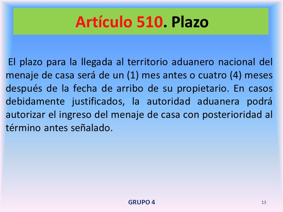 Artículo 510. Plazo