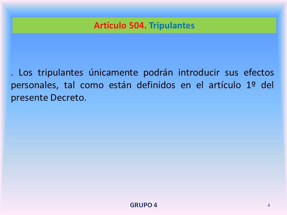 Artículo 504. Tripulantes
