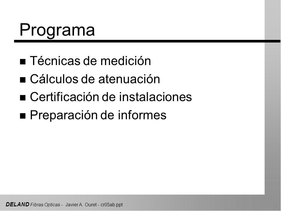 Programa Técnicas de medición Cálculos de atenuación