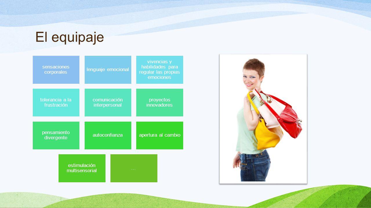 El equipaje sensaciones corporales. lenguaje emocional. vivencias y habilidades para regular las propias emociones.