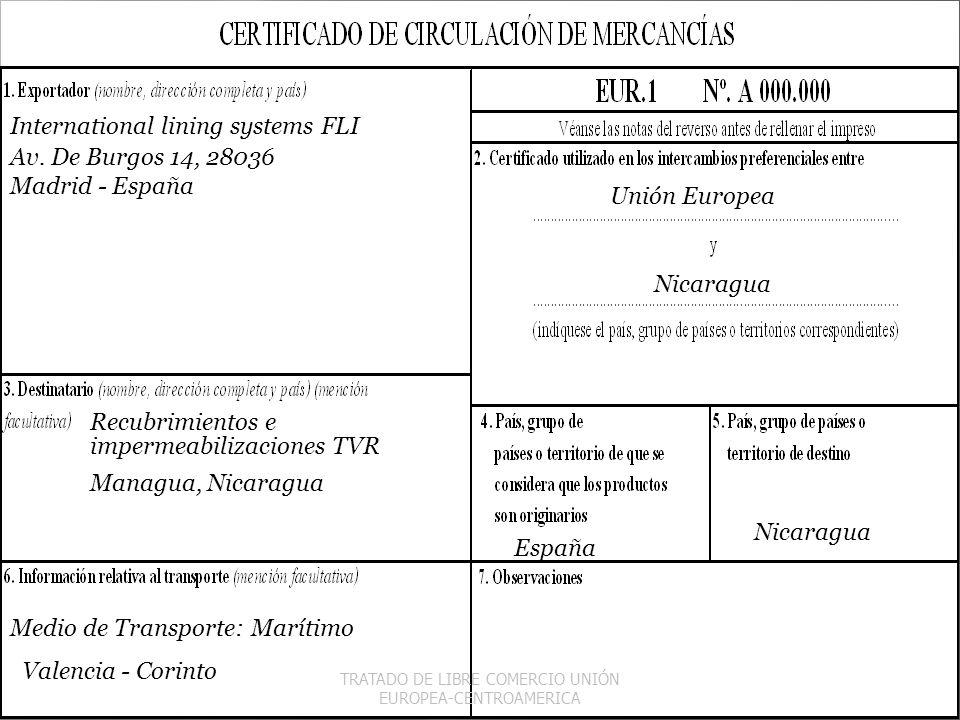 TRATADO DE LIBRE COMERCIO UNIÓN EUROPEA-CENTROAMERICA
